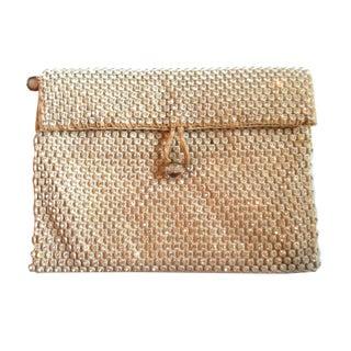 1930s Sparkling Ivory Rhinestone Trim Evening Bag