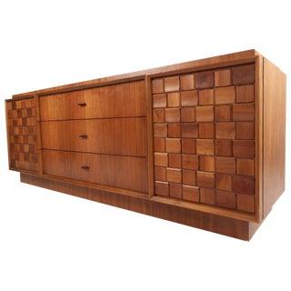 Mid-Century Modern Brutalist Style Nine-Drawer Dresser