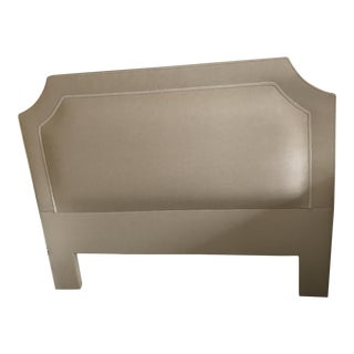 Custom Seagrass Upholstered Full Headboard