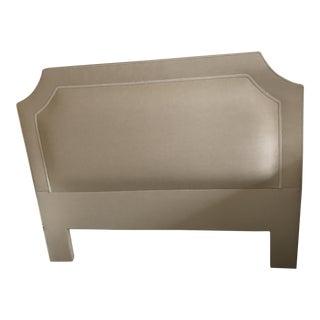 Custom Seagrass Upholstered Full Headboard
