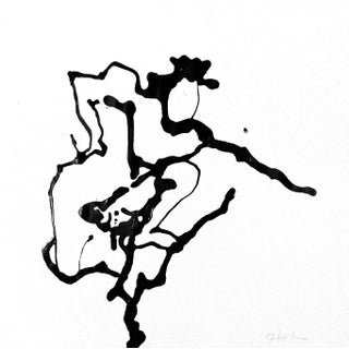 "Martha Holden ""Fencing"" Ink Drawing"