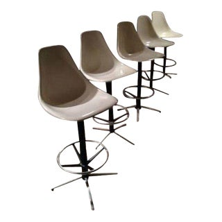 Burke Krueger Style Swivel Bar Stools - Set of 5
