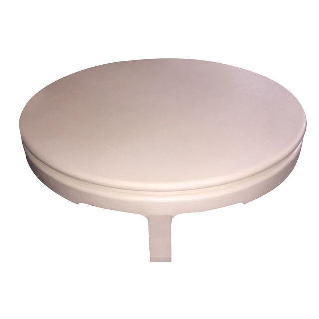 Image of Karl Springer Inspired Large Linen Coffee Table