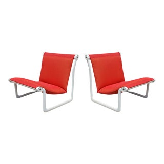 Vintage Knoll Morrison Hannah Outdoor Lounge Chairs - A Pair