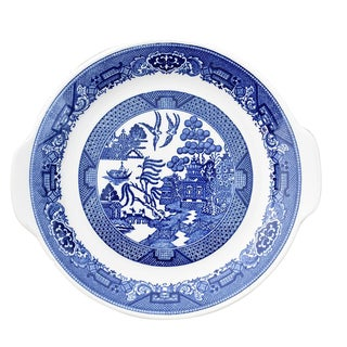 Willow Ware Royal Blue & White Plate