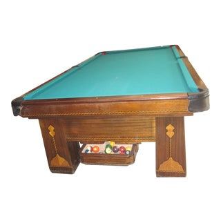Vintage Brunswick Balke Collender Co. Monarch Cushions Pool Table