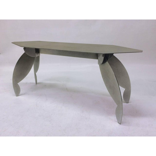 Sculptural Steel Console Table - Image 4 of 5