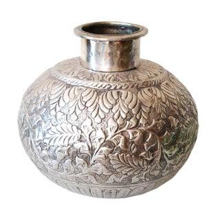 Indian Silver Vase