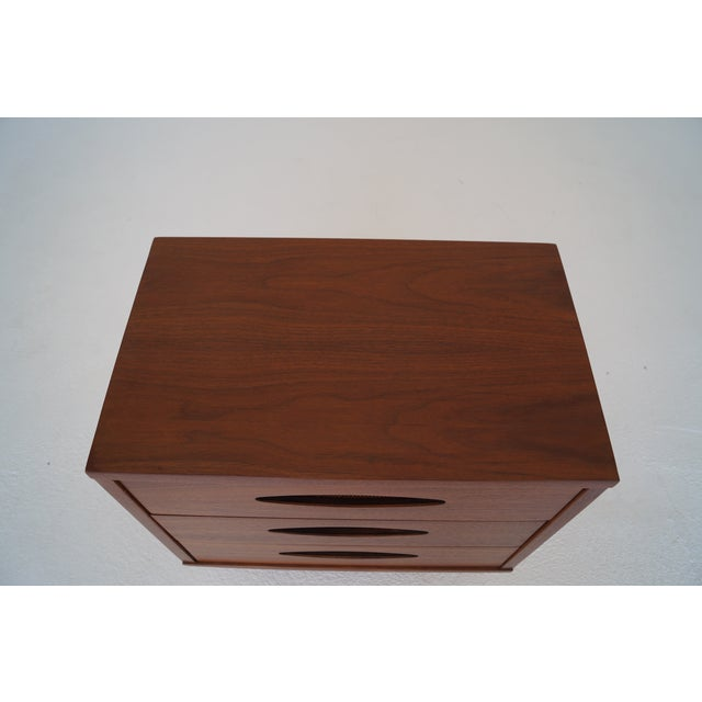 McCoy Furniture Mid-Century 3-Drawer Walnut Nightstand - Image 8 of 10