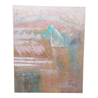 Mid-Century Modern Lee Reynolds Burr Abstract Oil Painting