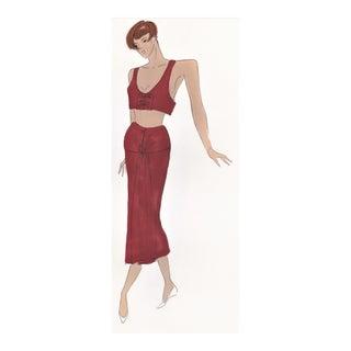 Original Fashion Drawing-1980s