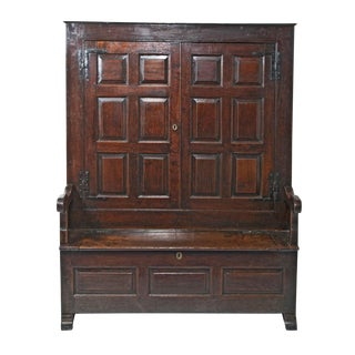 George II Period Oak Bacon Settle