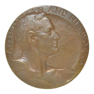National Bank of Portland Oregon Bronze Medal by Avard Fairbanks c.1929