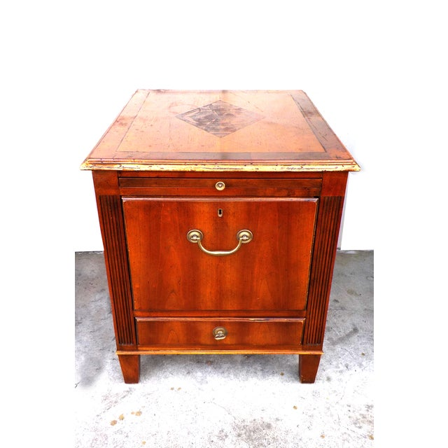 Hekman Vintage Wood Ornate Filing Cabinet - Image 3 of 10