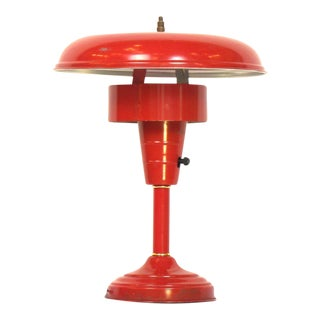 Red Atomic Table Lamp