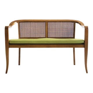 Edward Wormley Style Caned Settee