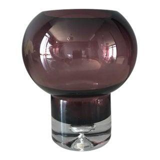 Mid Century Modern ScandinavianGlass Candleholder