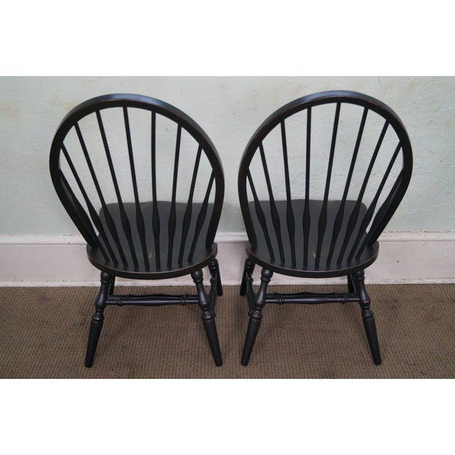 Restoration Hardware Black Painted Windsor Dining Chairs