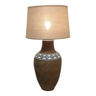 Vintage Brutalist Studio Pottery Table Lamp