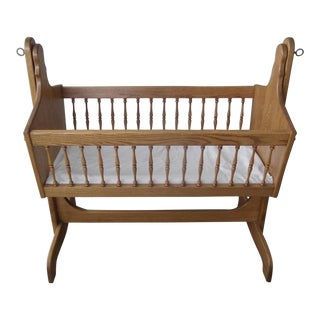 Vintage Amish-Made Baby Cradle
