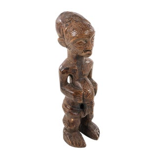 Antique African Native Hand Carved Fertility Male Sculpture