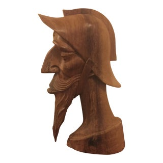 Handcarved Wooden Fisherman