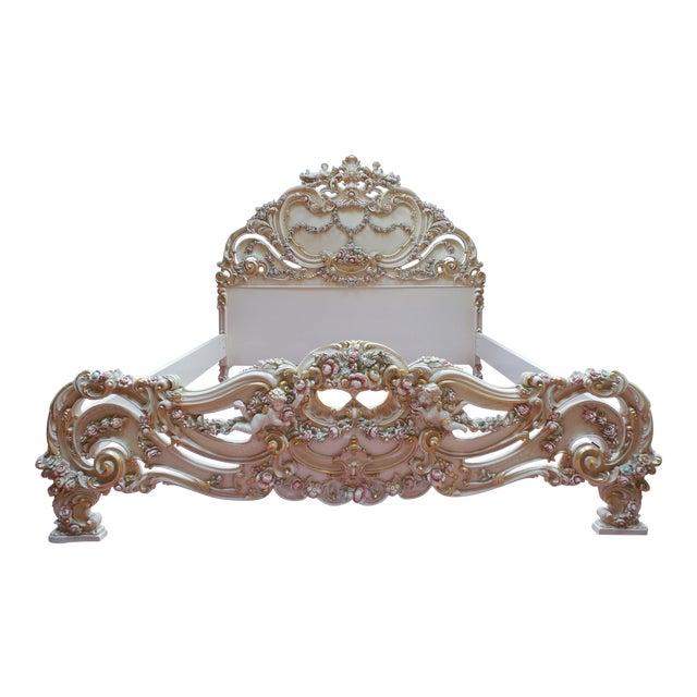 Italian Style Cherub California King Bedframe - Image 1 of 11