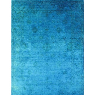 Pasargad Over-Dyed Cerulean Rug - 9′ × 11′9″