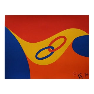 'Friendship Rings' Lithograph by Alexander Calder