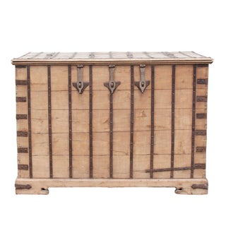Oversize Iron Bound Teak Trunk