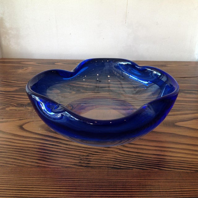 Hand Crafted Light Blue Glass Bowl - Image 2 of 6