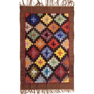 Perúvian Hand Woven Rug - 1′11″ × 2′11″