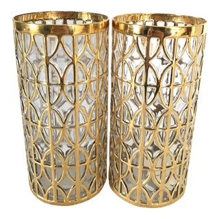 Imperial 24 Karat Gold Shoji Glasses- A Pair
