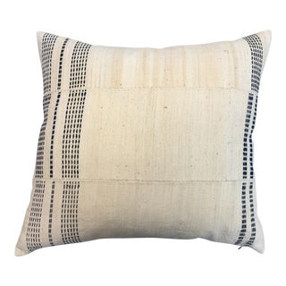 Vintage White & Black African Mud Cloth Pillow