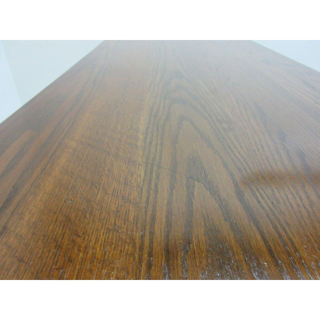 Ethan Allen Royal Charter Jacobean Carved Writing Office Desk - Image 7 of 8