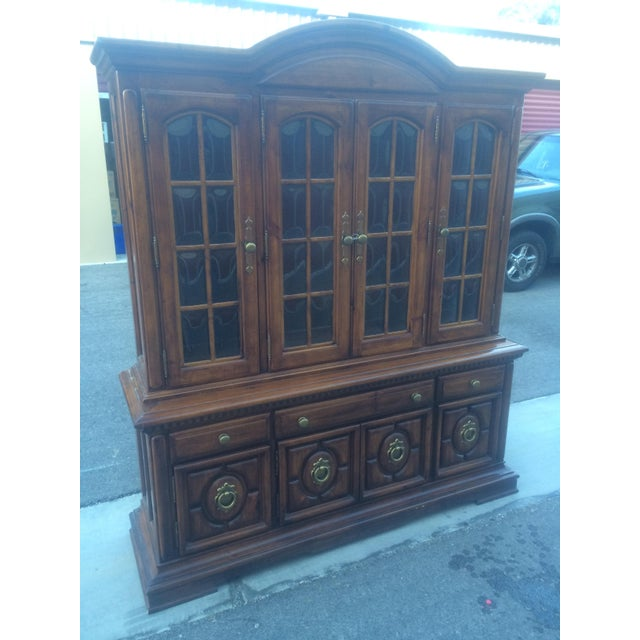 Burlington House Solid Wood Buffet with Hutch - Image 6 of 8