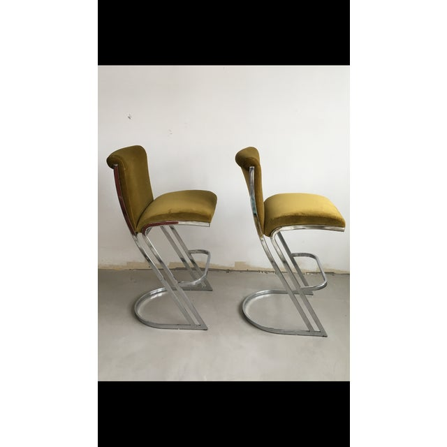 1970's Pierre Cardin Bar Stools - A Pair - Image 4 of 6