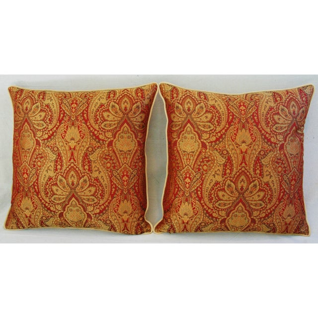 Custom French Jacquard & Velvet Pillows - A Pair - Image 10 of 10