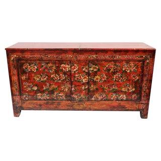 Antique Floral Painted Cabinet