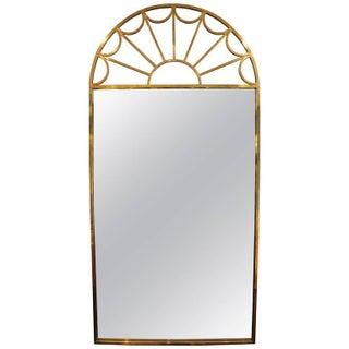 Mastercraft Tubular Brass Palladian Wall Mirror