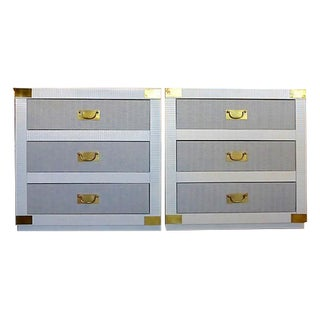Gray & White Nightstand Chests - A Pair