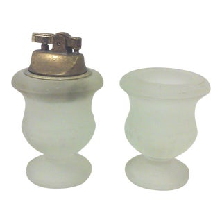 Frosted Glass Smoking Set - A Pair