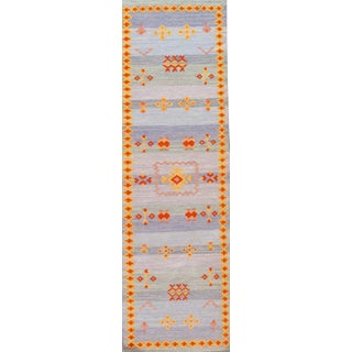 "Moroccan Style Reversible Flat Weave Rug - 2'5"" X 6'"