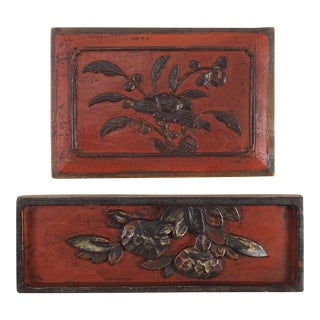 Chinese Carved Panels - S/2