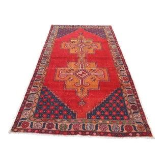 Oushak Vintage Wool Turkish Carpet Rug- 4′8″ × 9′1″