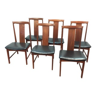 Danish Style Mid-Century Teak Dining Chairs - Set of 6