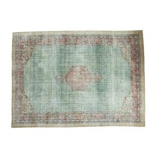 "Distressed Oushak Carpet - 8'6"" X 11'6"""