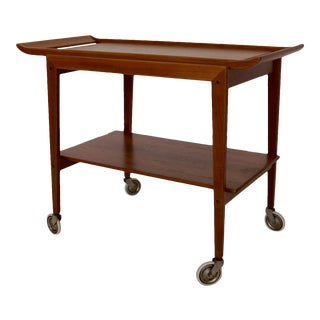 Peter Hvidt for Soborb Mobler Mid-Century Danish Modern Teak Bar Cart