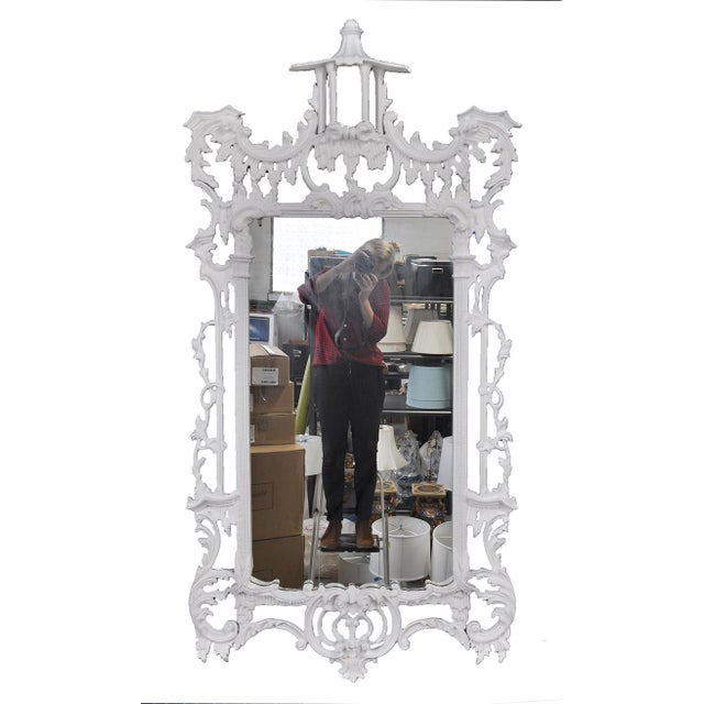 White Chippendale-Style Mirror - Image 4 of 4