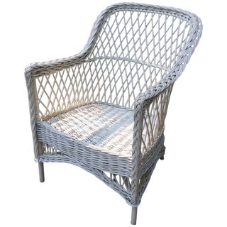 Antique Bar Harbor Wicker Chair